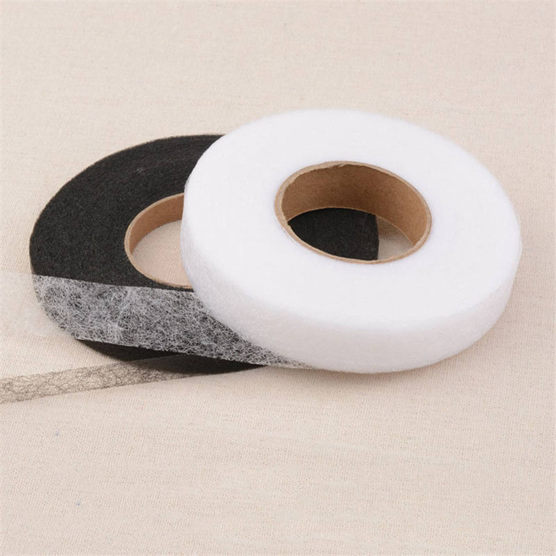 1cm Wide About 63m long Non-woven Fabric Interlinings Iron On Sewing Patchwork Double-sided Adhesive Lining 1PC (1Roll=1PC)