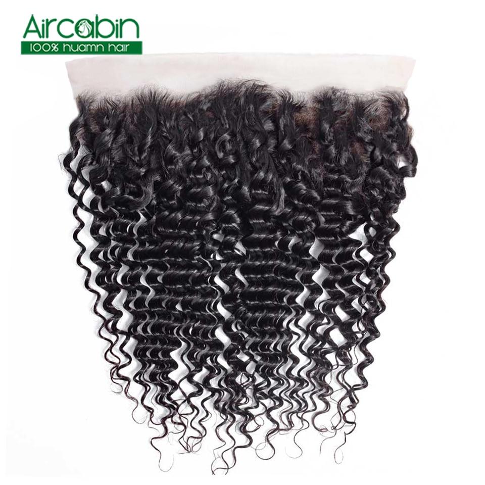 Aircabin Brazilian Deep Wave Frontal Closure NonRemy 100 Human Hair Frontal 13x4 Lace Frontal Closure Pre