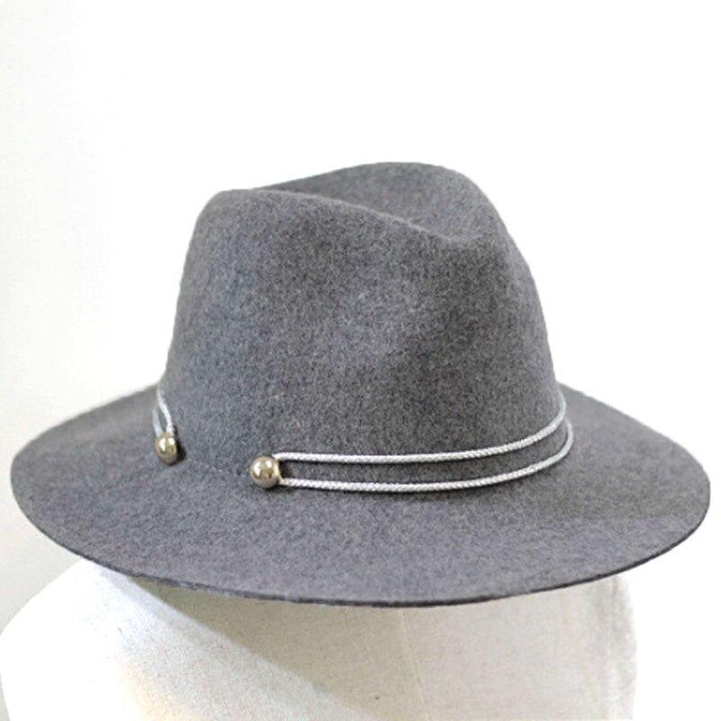 d018a839da6 Sunlynn Wide Brim Fedora Hat Women Europe Style Wool - imgUrl