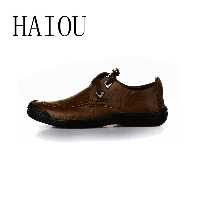 haiou new 2016 brand casual shoes genuine leather