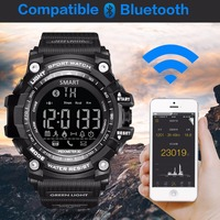 GIMTO Sport Watch Men Digital Smart Watch Bluetooth Running Pedometer Chronograph Dive LED Military Stopwatch For