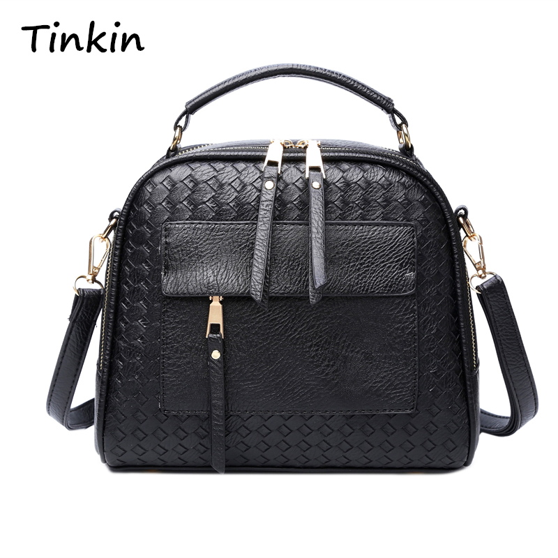 Tinkin New Arrival Knitting Women Handbag Fashion Weave Shoulder Bags Small Casual Female CrossBody Bag Retro Tote joseph h keenan gas tables