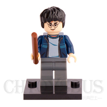 HARRY POTTER Movie Harry with DARK BLUE OPEN JACKET hp087 Model Assemble Building minifig Blocks Bricks