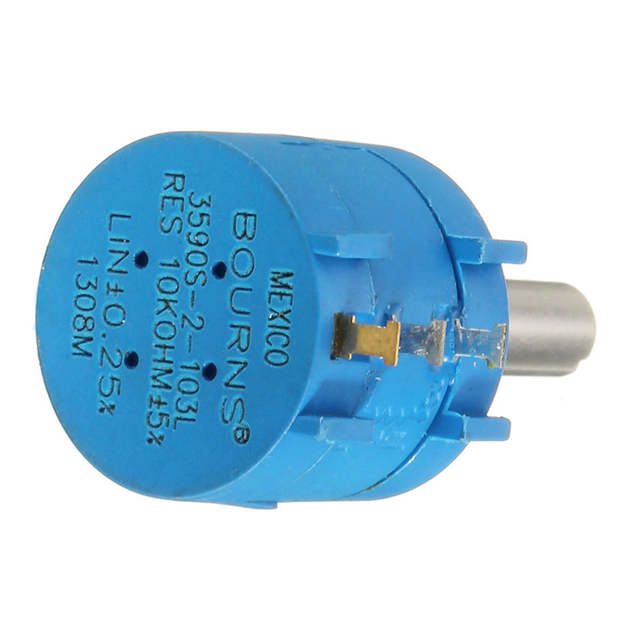 3590S-2-103L 3590S 10K Ohm BOURNS Rotary Wirewound Precision Potentiometer  Pot 10 Ring Adjustable Resistor