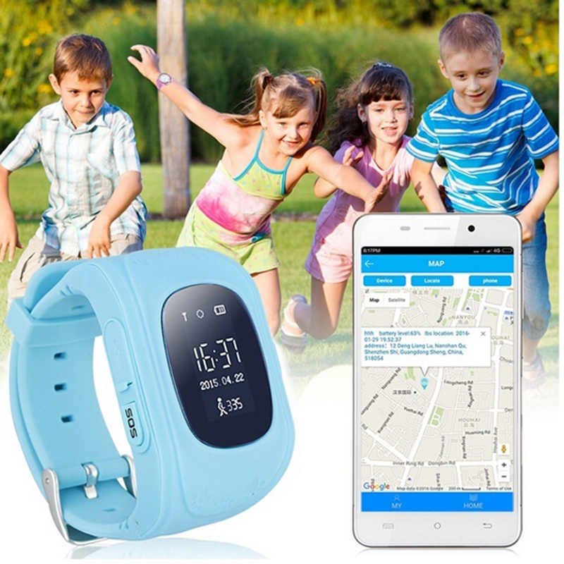 Anti Lost Q50 Kids GPS Baby Watch OLED Child GPS Tracker SOS Smart Monitoring Positioning Phone Compatible IOS & Android