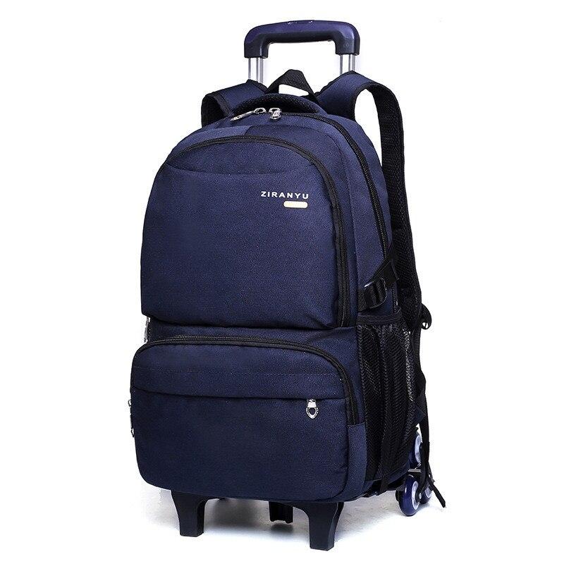 Sac à dos à roulettes pour enfants sacs à roulettes pour garçons chariot étudiant sac à dos sacs d'école avec roues enfants chariot de voyage Mochila
