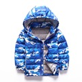 Children clothing 2017 lightweight boy winter jackets camouflage printed 90% down  kids parkas zipper hooded boy outwear coats