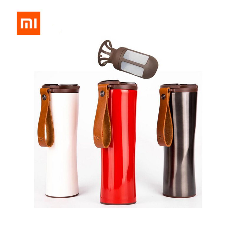 Xiaomi Kiss Kiss Fish Slim Smart Cup 430ml OLED Temperature Screen Protable Stainless Steel Hot Water