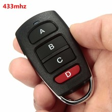 New Universal 4 Buttons Cloning 433mhz Electric Garage Door Remote Control Key