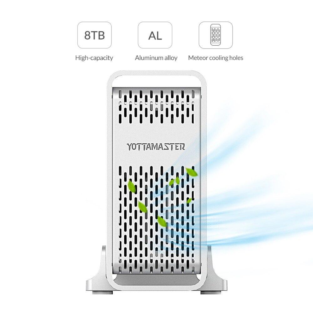 Yottamaster haut de gamme HDD Station d'accueil double baie 2.5 pouces USB3.0 à SATA3.0 boîtier HDD externe 8 to Support Raid 0/1/SPAN - 2