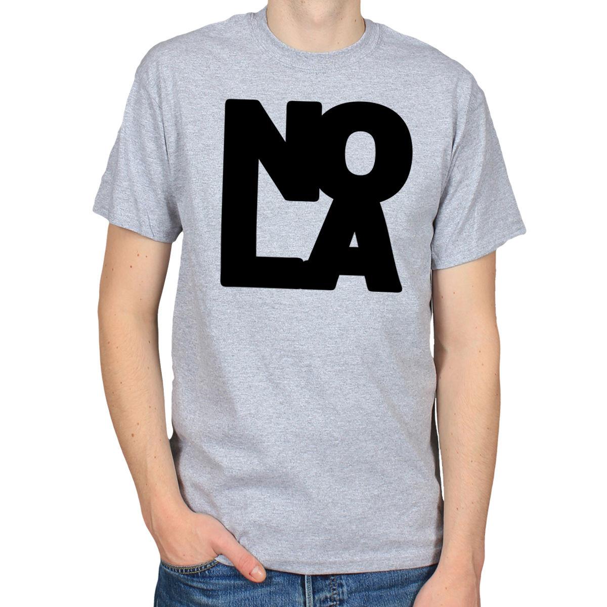 LOVE NOLA NEW ORLEANS AMERICAN JAZZ BLUES SOUL RHYTHM BLUES Mens 100% Cotton Short Sleeve Print ...