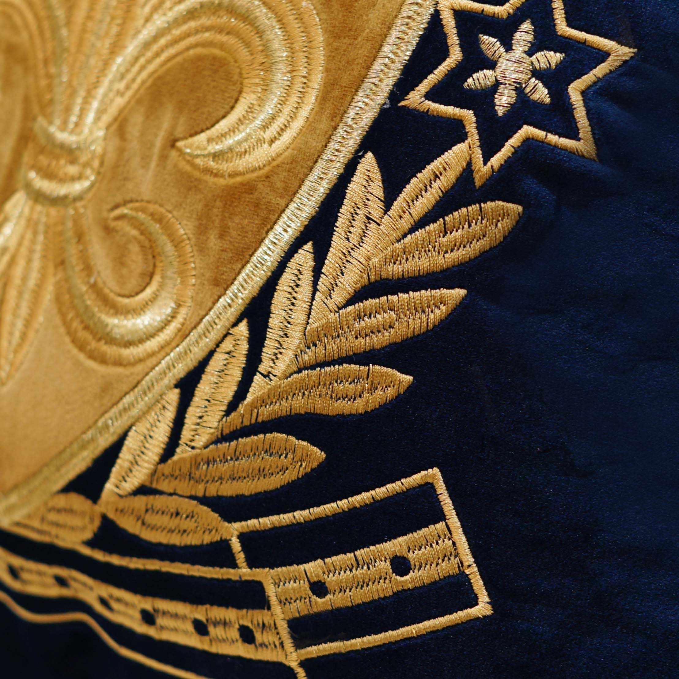 Avigers Ouro Bordado Fronha Capa de Almofada de Veludo de Luxo Europeu Geometria Fronha Casa Decorativo Sofá Jogar Travesseiro