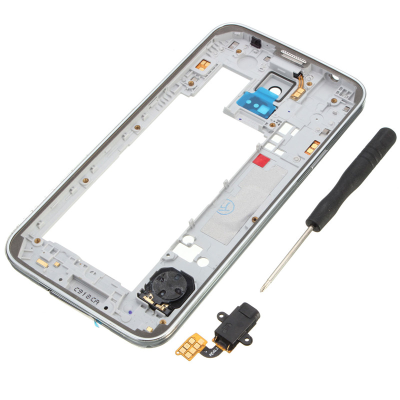 Replacement Silver Middle Frame Housing Bezel Plate Camera Cover For Samsung Galaxy S5 G900 replacement middle plate frame set for iphone 4 8 piece pack