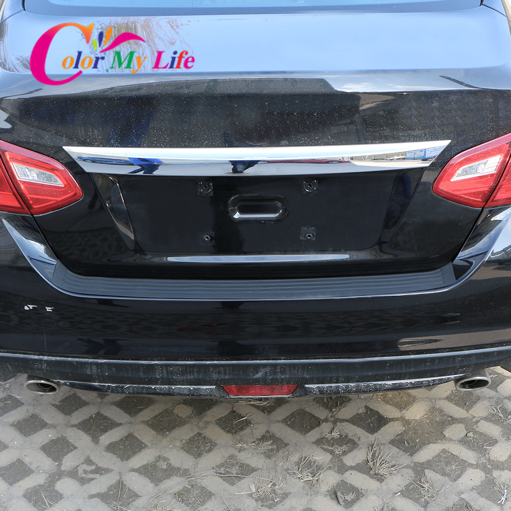 Image 5 - Car Rear Bumper Trunk Protection Sticker Car Styling for Chevrolet Cruze 2009 2017 Malibu Trax for Ford Focus 2 3 4 MK2 MK3 MK4-in Car Stickers from Automobiles & Motorcycles