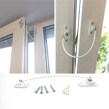 4Pcs/Lot Child Protection Baby Safety Stainless Window Limiter Window Protection Security Lock On The Window Baby Lock все цены