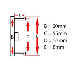 Image 2 - 4pcs/lot 60MM Silver Chrome Plastic Flat Surface Car Wheel Center Hub Caps Cover Auto Rim Tire Hubcap