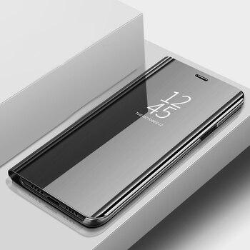 Перейти на Алиэкспресс и купить Для LG K12 Max чехол 6,26 ''Роскошный кожаный флип-чехол с зеркалом для LG K12 Prime полный защитный чехол для телефона s K 12 K12Max K12prime