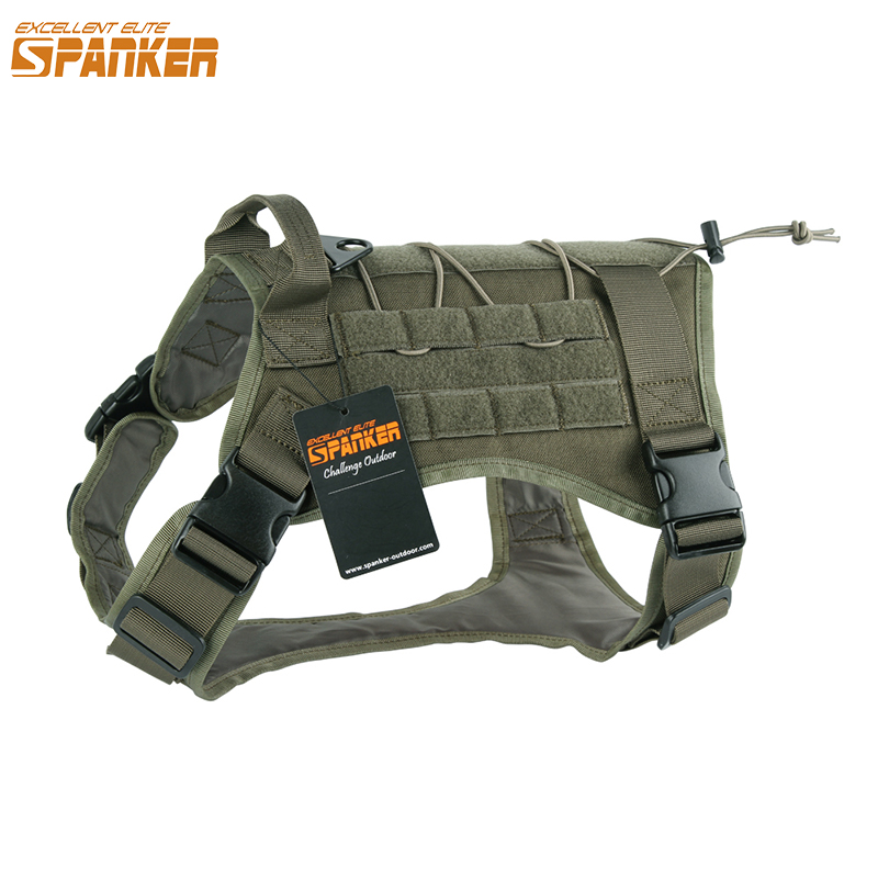 EXCELLENT ELITE SPANKER Outdoor Tactical Pet Dog Clothes Vest Load Bearing Training Nylon Dog T-shirt Military for Pets