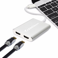 USB C Multiple HDMI Hub Thunderbolt 3 to dual hdmi Adapter Type C Cable Converter Extend to Different Image for Xiaomi hp
