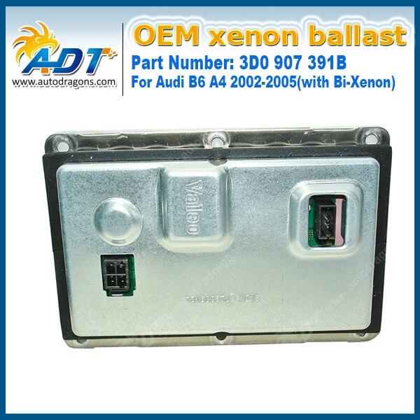 2PCS OEM Ballasts 3D0 907 391B D1 D3 Xenon HID Headlamp Units Ballast Headlight Igniter For Audi B6 A4 2002-2005(with Bi-Xenon) oem hella xenon hid ballast part 5dv 008 290 00 b m w 6 907 488 a udi m ercedes reactor