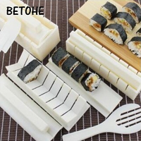 BETOHE 10pcs/set Cooking Tools DIY Japanese Sushi Maker Rice Mold Kitchen Sushi Making Tool Set Multifunctional Mould kitchen