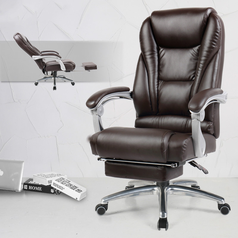 Cowhide Office Chair Multifunction Office Computer Chair Swivel Reclining Boss Chair Household Chaise Silla Gamer