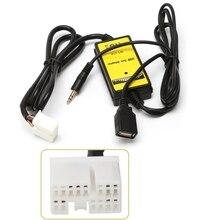 רכב MP3 אודיו ממשק SD AUX USB נתונים כבל מתאם CD מחליף עבור הונדה אקורה