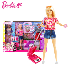 где купить Barbie Original Brand Travel GiftSet Doll Girl Pretend Dolls Fashion style Girl Toy For Christmas Day Gift  Boneca дешево