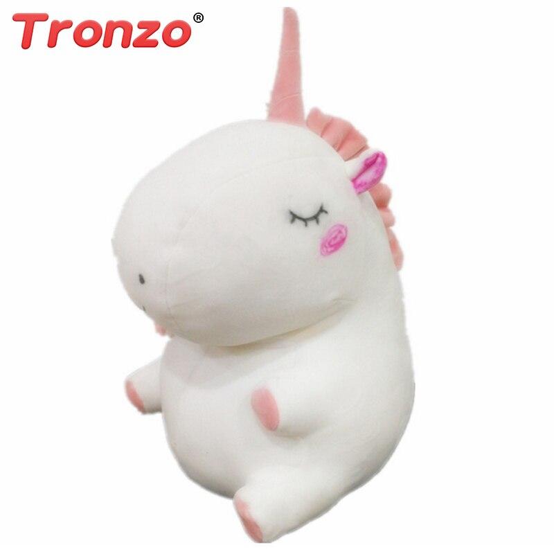 Tronzo 25 см Kawaii Детские Единорог Подушки Детские спальные Белый Единорог плюшевые Игрушечные лошадки мягкие куклы Пасхальный подарок для дево... ...