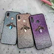 Gradient Glitter Bee Case For Xiaomi 9 Redmi 5 Plus Note 6 5