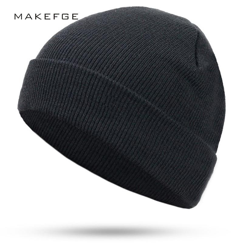 2017 New Fashion Women Men Knitting Beanie Hip-Hop autumn  Winter Warm Caps Unisex 9 Colors Hats For Women Feminino Skullies