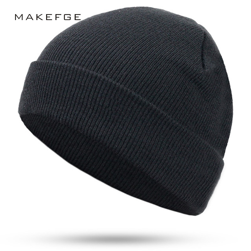 2019 New Fashion Women Men Knitting Beanie Hip-Hop Autumn  Winter Warm Caps Unisex 9 Colors Hats For Women Feminino Skullies