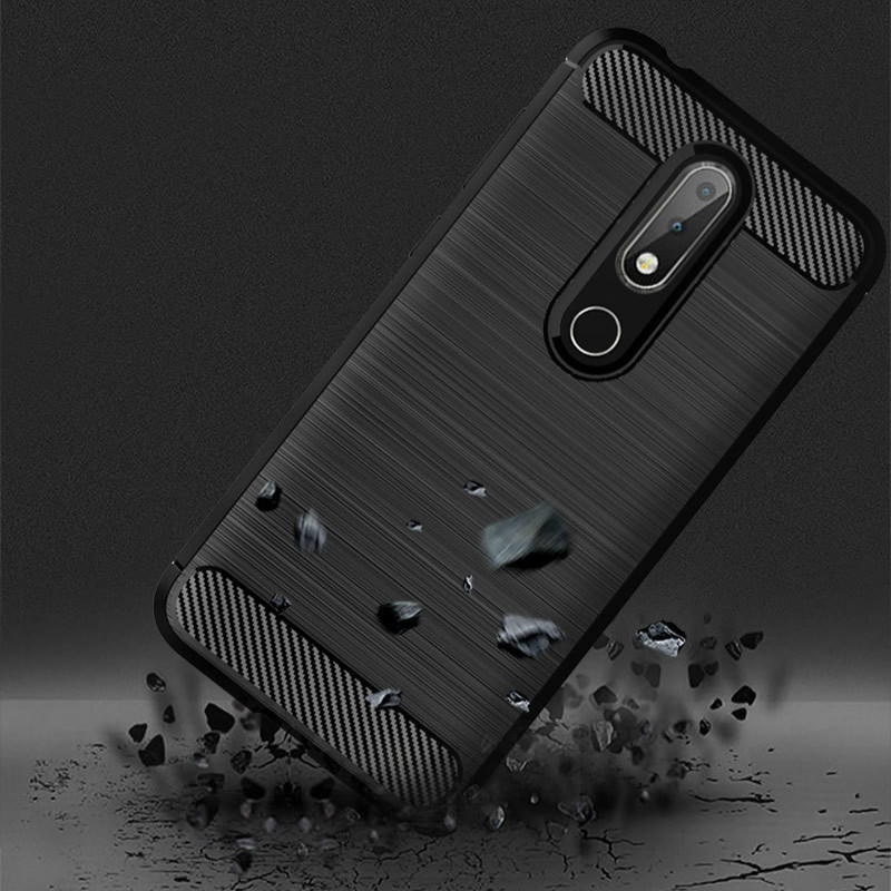 Image 3 - Soft TPU Brushed Case for Nokia 6.2 4.2 3.2 2.2 1Plus Carbon Fiber Cover for Nokia X71 X7 X6 X5 X3 8.1 7.1 6.4 5.1 3.1 Plus Case-in Fitted Cases from Cellphones & Telecommunications
