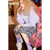 ELF SACK New Stylish Oversized Woman Sweatshirts Loose Casual Knitted Embroidery Hoodies Women Pulloveres Hiphop Femme Sudadera