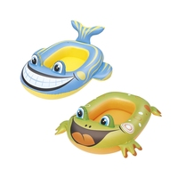 Inflatable Baby Fish/Frog Boat Pool Float Swim Water Toys Fun Floats Pool Buoy Ride-on Raft Boia Piscina