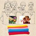 100 unids/set Tallos de Chenilla Palos Kindergarten Artesanía Juguetes Creativos Para Niños