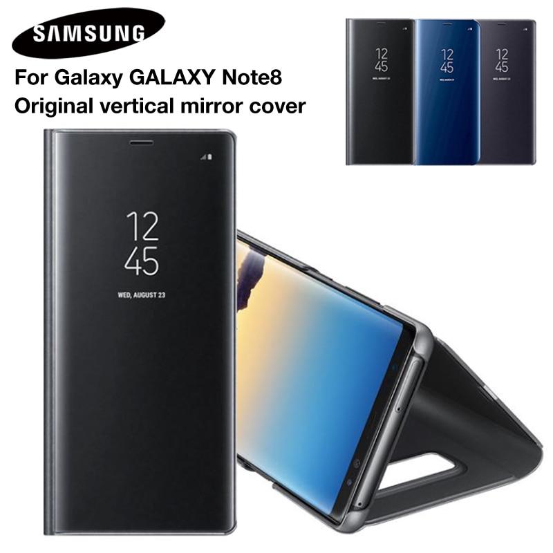 SAMSUNG miroir couverture vue claire Smart couverture téléphone étui pour SAMSUNG Galaxy Note 8 N9500 Note8 N950F SM-N950F étui mince à rabat