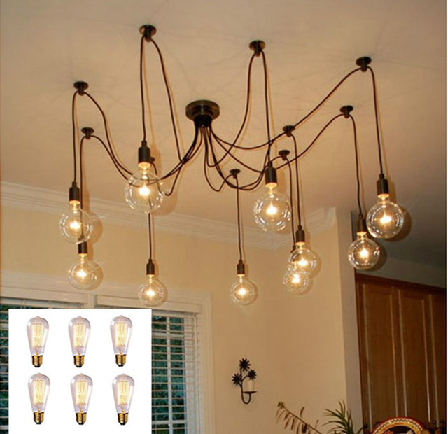 Aliexpress.com : Buy Good Looking Eletrical Wire Pendant Light With 6 heads,E...