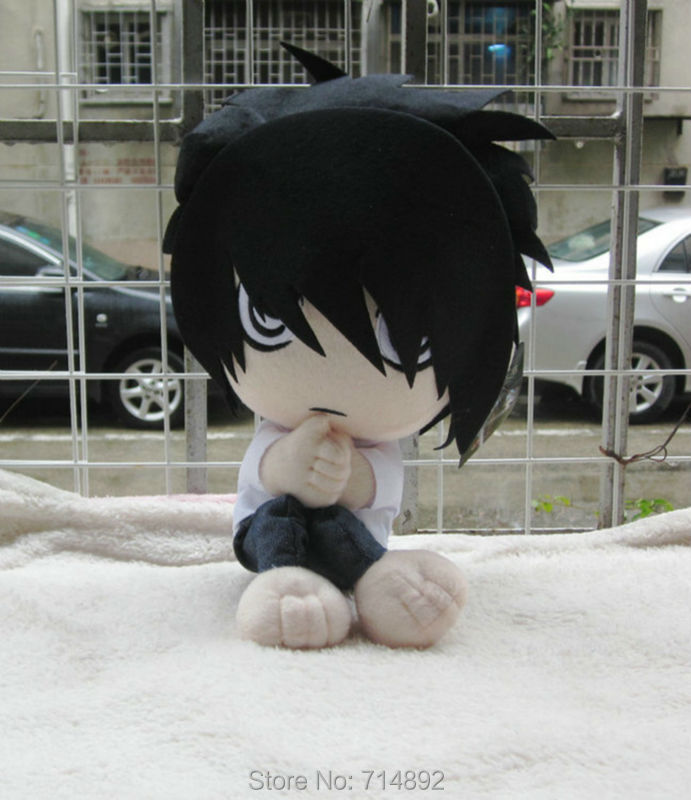 30 pcs/lot Wholesale Anime Death Note Lawliet plush doll L.Lawliet cosplay figure plush toy 30cm pillow free shipping by EMS/DHL