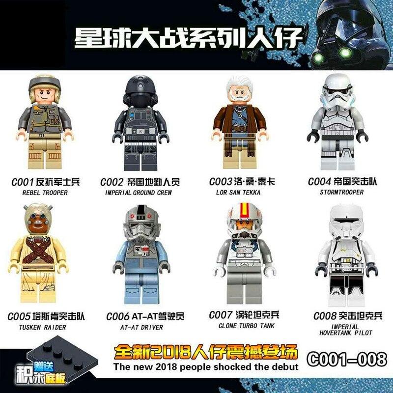 Single Sale Rebel Trooper Imperial Ground Crew Stormtrooper Lor San Tekka Bricks Building Blocks Children Gift Toys C001-008 свитшот insight rebel yell crew midnight oil