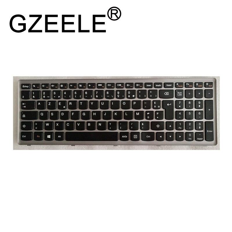 Gzeele novo francês teclado do portátil para lenovo ideapad z500 z500a z500 z500g p500 fr teclado com quadro