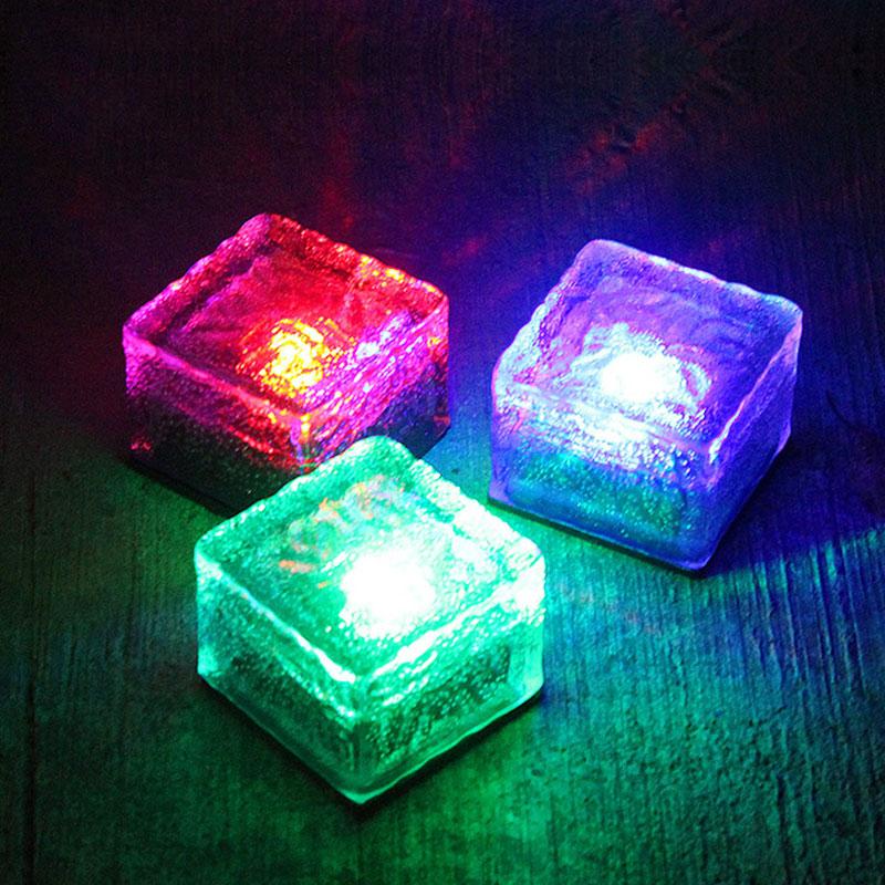 sol lampe til haven dekoration Solar Udendørs Vandtæt Ice Underground Light Dekorative Lawn Lamper Landskab Belysning jorden