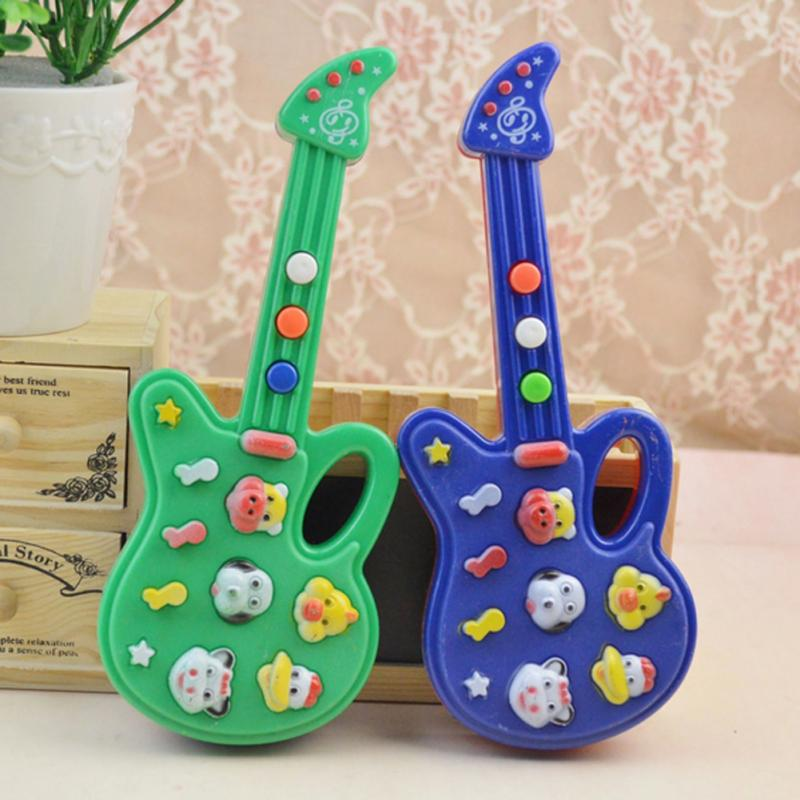High Quality Guitar Kids Development Musical Instrument Guitar Toy Children Electric Guitar Toys Fun Baby Toy