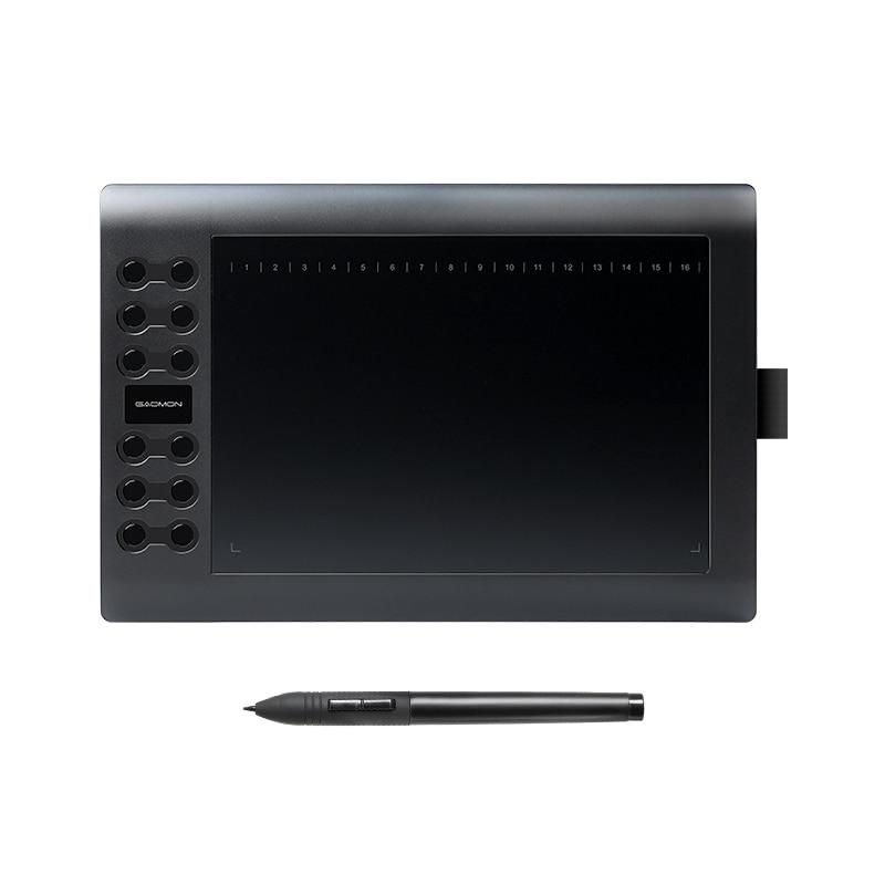 GAOMON M106K - tableta gráfica profesional 10 pulgadas para dibujo con bolígrafo de 2048 niveles para tableta art digital USB