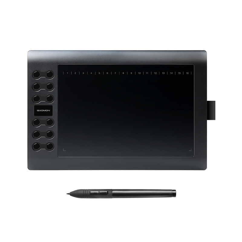 GAOMON M106K-Professional 10 дюймов графический планшет для рисования с USB художественным цифровым планшетом 2048 уровней ручка