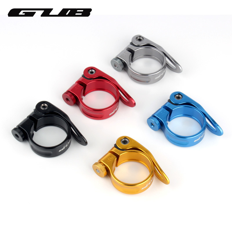 GUB 31.8mm 34.9mm Bicycle Seat Post Clamp Aluminum Alloy Quick Release Bike Seatpost Clamps Clamping Clip Bike Parts