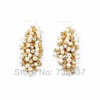 Wholesale Western Jewelry Pearl Chandelier Earrings For Wedding