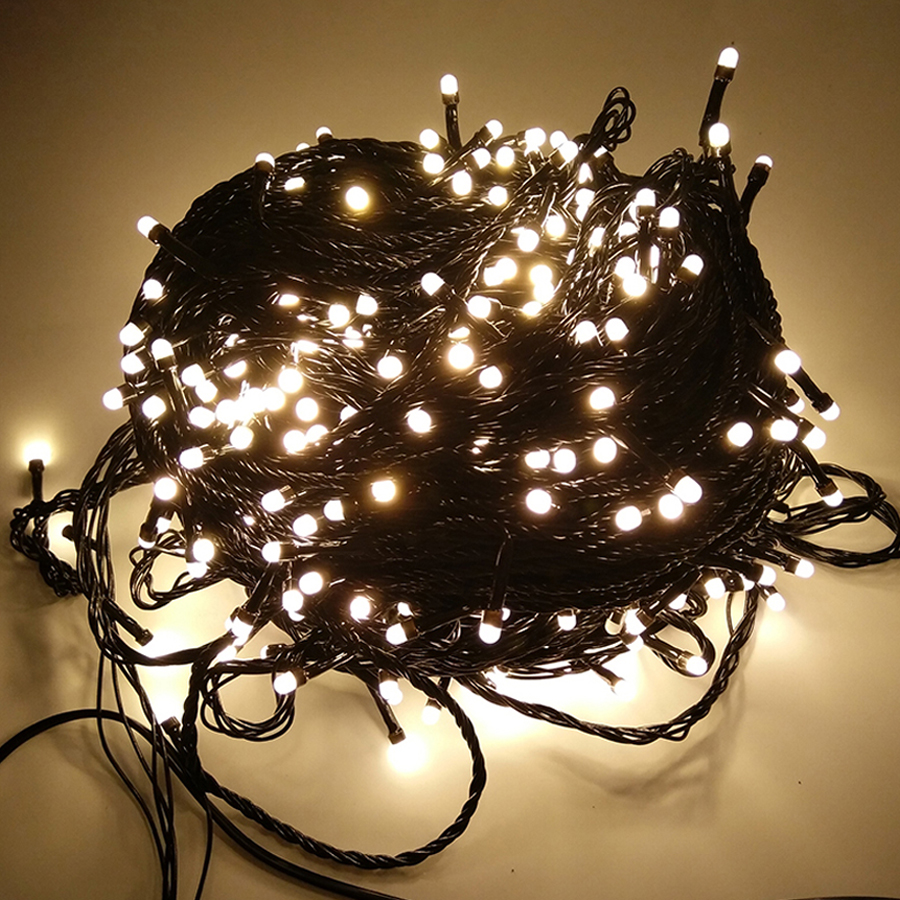 Thrisdar Black 100M 500 LED Outdoor Waterproof LED String Fairy Light Garland Wedding Party Holiday Christmas Fairy String Light