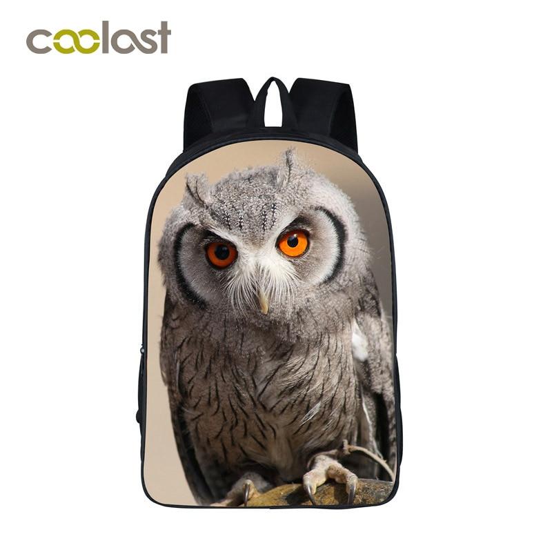 Owl Backpack Women Laptop Bags Nylon Bagpack School bags for Teenagers Girls Boys mochila 3D Printing 16 Inch Children Bookbag coofit dis mujer mochila marca moda nylon impermeable antirrobo mochila school bookbag para adolescentes mochila