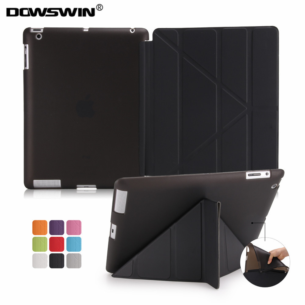Case for iPad 2 3 4, PU Leather smart cover for ipad 2, for ipad 4 case soft tpu back cover for ipad 3 case, flip case holder for ipad mini4 cover high quality soft tpu rubber back case for ipad mini 4 silicone back cover semi transparent case shell skin